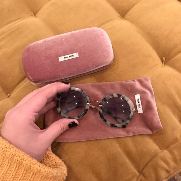 3d4cab4756cf Miu Miu Round Tortoise Shell Sunglasses. M 5be1184b7386bc60f2396d65. Other  Accessories ...